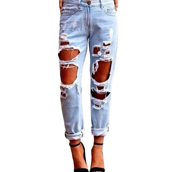 Summer-Women-Sexy-Wild-Skinny-Boyfriend-Ripped-Jeans-Pants-big-Hole-Pencil-Pants-Stretchy-Jeans-Denim